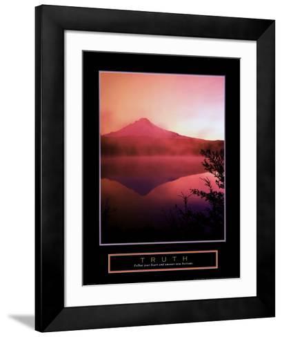 Truth: Misty Mountain--Framed Art Print