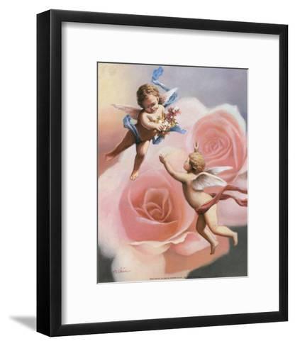 Cherubs' Rose-T^ C^ Chiu-Framed Art Print