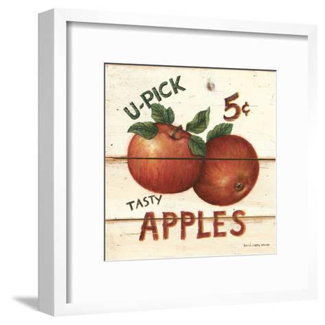 U-Pick Apples, Five Cents-David Carter Brown-Framed Art Print
