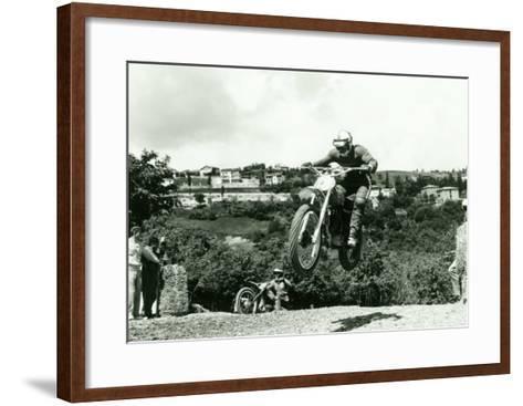 Husqvarna MX Motorcycle-Giovanni Perrone-Framed Art Print