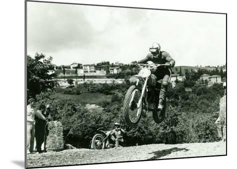Husqvarna MX Motorcycle-Giovanni Perrone-Mounted Giclee Print