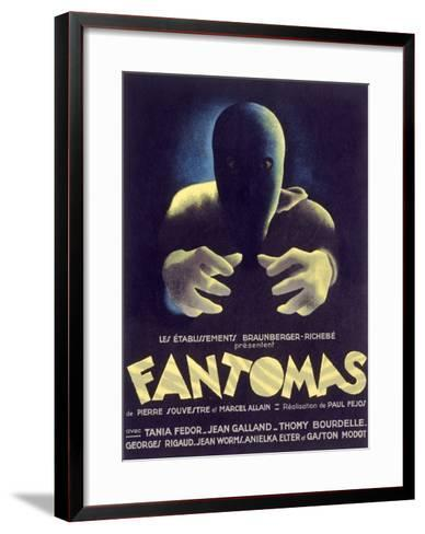 Fantomas, Sci-Fi Movie Poseter--Framed Art Print