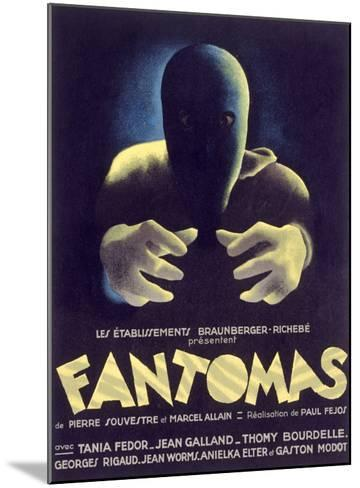 Fantomas, Sci-Fi Movie Poseter--Mounted Giclee Print