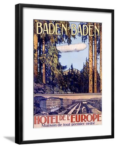 Baden Baden by Airship Hotel--Framed Art Print