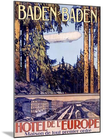 Baden Baden by Airship Hotel--Mounted Giclee Print