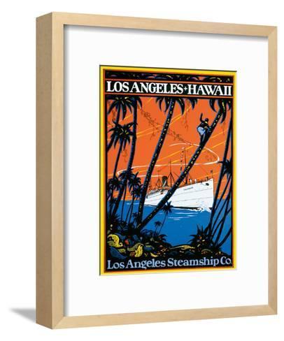 Los Angeles-Hawaii, Los Angeles Steamship Company, c.1920s--Framed Art Print
