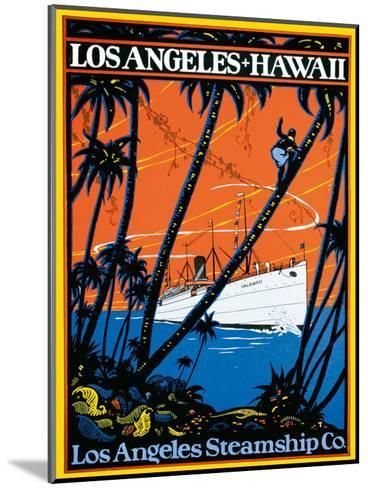 Los Angeles-Hawaii, Los Angeles Steamship Company, c.1920s--Mounted Giclee Print