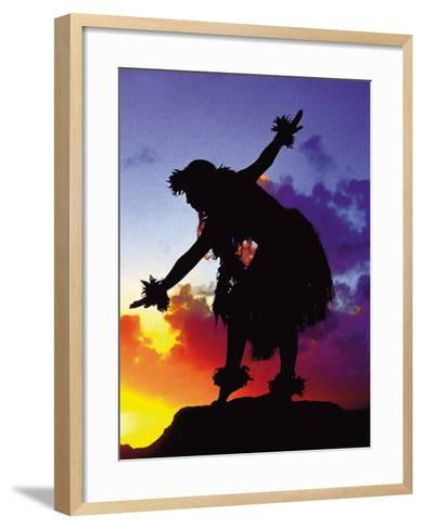 Red Sunset, Maui, Hawaii-Ronald Laes-Framed Art Print