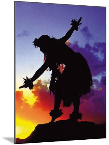 Red Sunset, Maui, Hawaii-Ronald Laes-Mounted Giclee Print