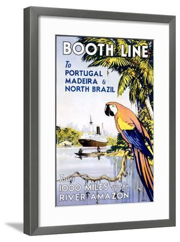 Booth Ocean Lines to Portugal--Framed Art Print