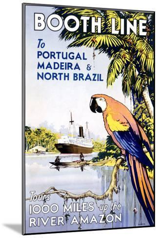 Booth Ocean Lines to Portugal--Mounted Giclee Print