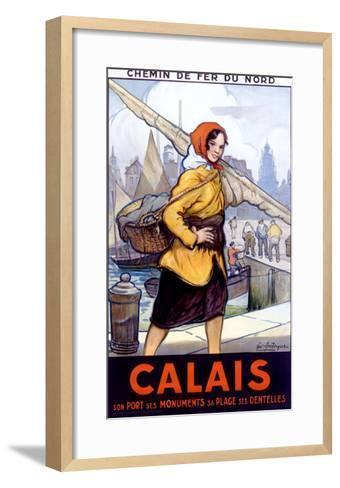 Port Calais Fishing Women--Framed Art Print