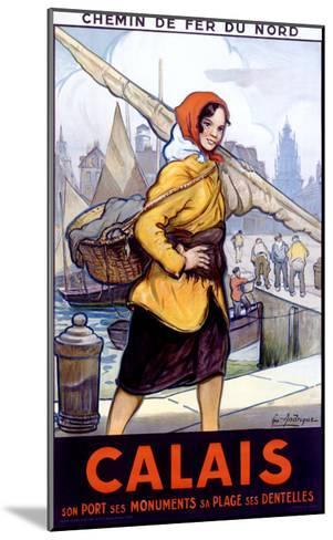 Port Calais Fishing Women--Mounted Giclee Print