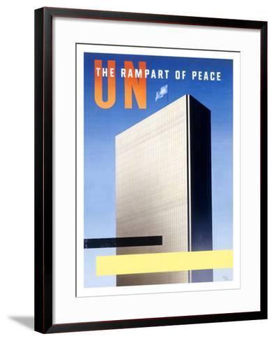 United Nations, The Rampart of Peace--Framed Art Print