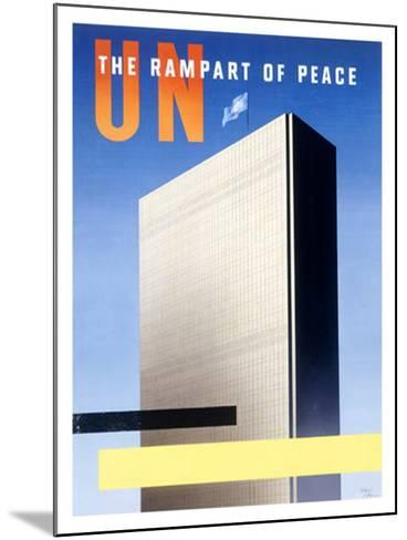 United Nations, The Rampart of Peace--Mounted Giclee Print