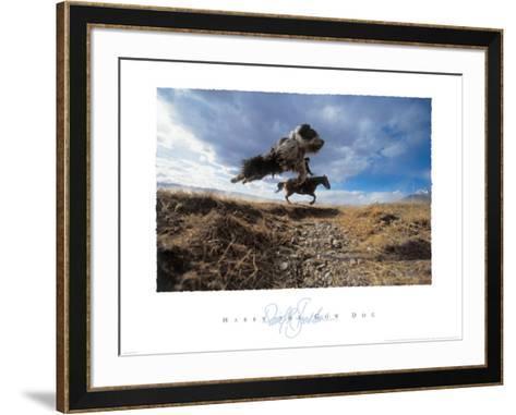 Harry the Cow Dog-David R^ Stoecklein-Framed Art Print