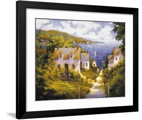 Path to Harbor-Barbara Applegate-Framed Art Print