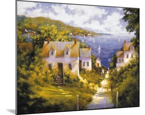 Path to Harbor-Barbara Applegate-Mounted Art Print