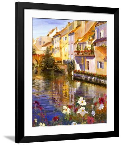 Poppies on Water-Michael Longo-Framed Art Print