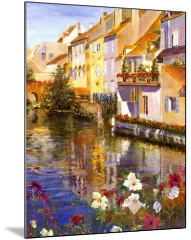 Poppies on Water-Michael Longo-Mounted Art Print