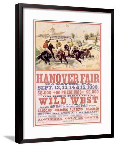 Hanover Fair Horse Race--Framed Art Print
