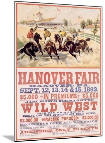 Hanover Fair Horse Race--Mounted Giclee Print