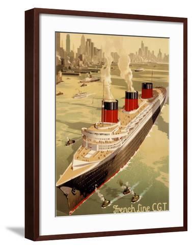 CGT Oceanline Normandie-Sigismund Righini-Framed Art Print