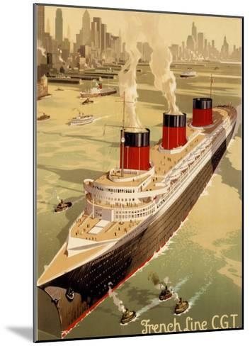 CGT Oceanline Normandie-Sigismund Righini-Mounted Giclee Print