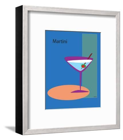Martini in Blue-ATOM-Framed Art Print