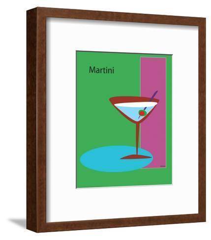 Martini in Green-ATOM-Framed Art Print