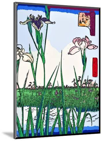 Irises a Pond-Ando Hiroshige-Mounted Giclee Print
