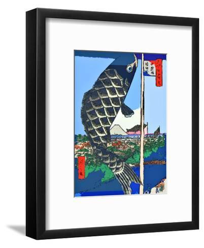 Carp Streamers at Suidobashi-Surugadai-Ando Hiroshige-Framed Art Print