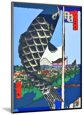 Carp Streamers at Suidobashi-Surugadai-Ando Hiroshige-Mounted Giclee Print