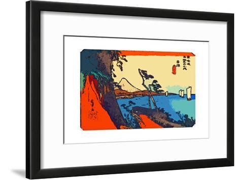 Yui: Path of Setta with Mount Fuji-Ando Hiroshige-Framed Art Print