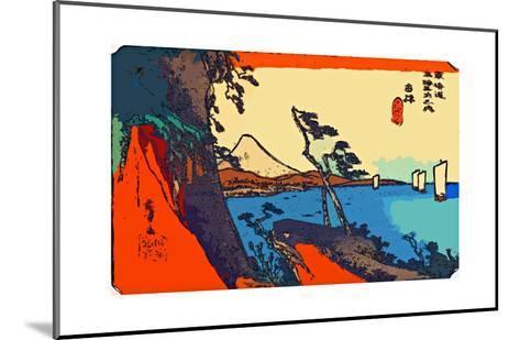 Yui: Path of Setta with Mount Fuji-Ando Hiroshige-Mounted Giclee Print