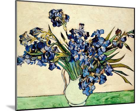 Vase of Irises, c.1890-Vincent van Gogh-Mounted Giclee Print