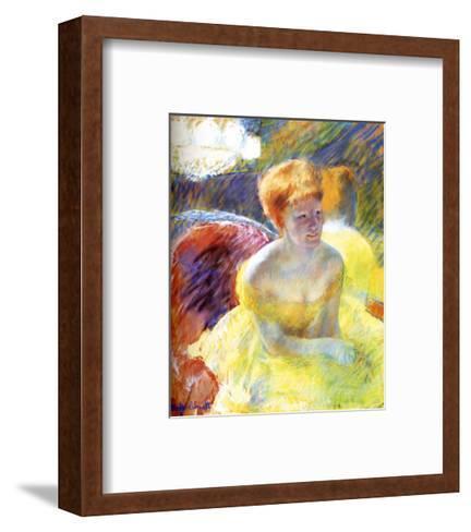 Lydia at the Theater-Mary Cassatt-Framed Art Print
