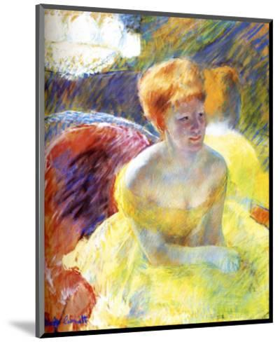 Lydia at the Theater-Mary Cassatt-Mounted Giclee Print