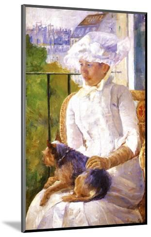 Young Girl at a Window-Mary Cassatt-Mounted Giclee Print
