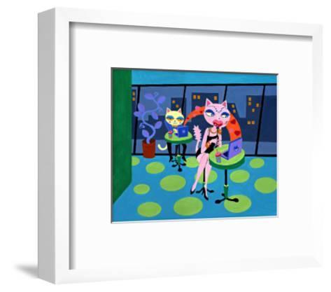 Net Cafe-MASACO-Framed Art Print