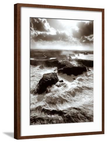 Lumiere sur les Poulains-Guillaume Plisson-Framed Art Print