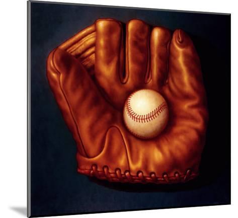 Baseball Mitt I-TR Colletta-Mounted Art Print