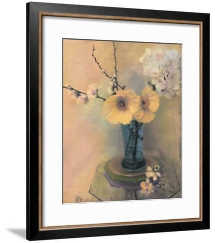 Poppies and Hydrangea-Susan Friedman-Framed Art Print