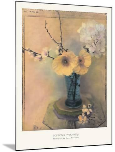 Poppies and Hydrangea-Susan Friedman-Mounted Art Print