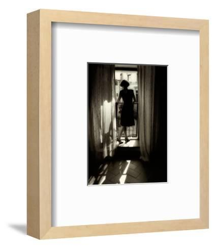 Reminiscing in the Window I-Lesley G. Aggar-Framed Art Print