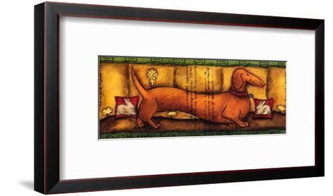 The Teckel Tickle-Aline Gauthier-Framed Art Print