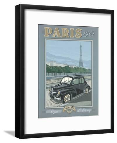 Paris 1961, 4Cv-Bruno Pozzo-Framed Art Print