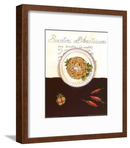 Bucatini All Amatriciana-Sophie Hanin-Framed Art Print