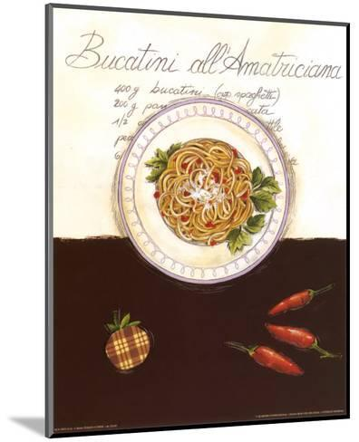 Bucatini All Amatriciana-Sophie Hanin-Mounted Art Print