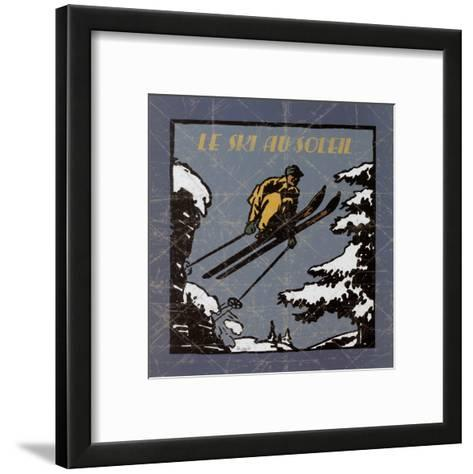 Le Ski au Soleil I-Philippe David-Framed Art Print